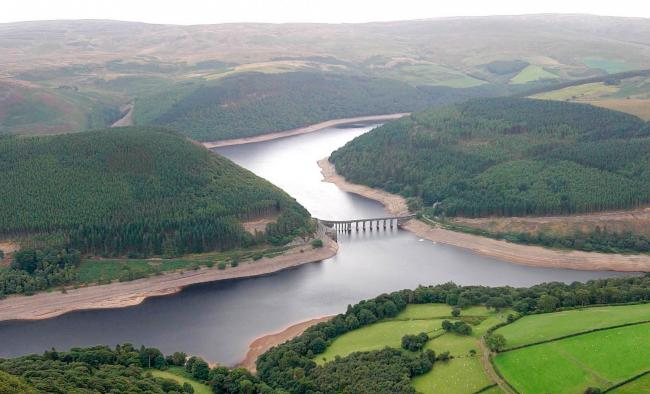 The Elan Valley from the air. Picture: Phil Blagg/County Times
