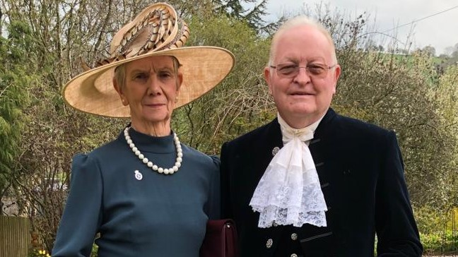 The High Sheriff of Powys David Lloyd Peate with his wife Mrs Lynne Peate on Friday, April 12, 2019