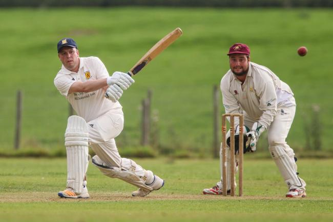 Alberbury's Mike Crawshaw during the Henshalls Shropshire Cricket League match between Alberbury and Knockin at Pecknall Lane on Saturday, August 12, 2017...Pic: Mike Sheridan/County Times.MS641-2017.