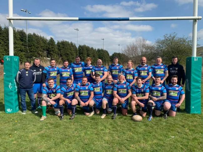 Rhayader Rugby Club, pictured earlier in the season, remain in contention for silverware this season.