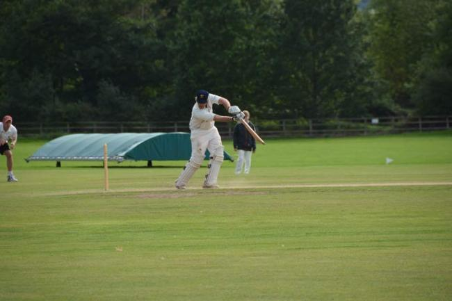 Patrick Cudmore swings the willow for Pontesbury.