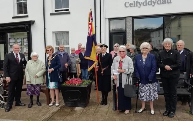 TOWN TRIBUTE: An oak tree planting service in Llanidloes marking 75 years since the D-Day landings. Picture: Paul Jones