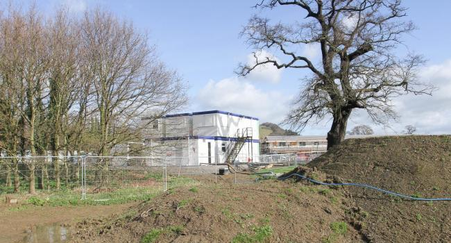 The new English-medium primary school site in Welshpool..Picture by Phil Blagg..PB128-2019-11.