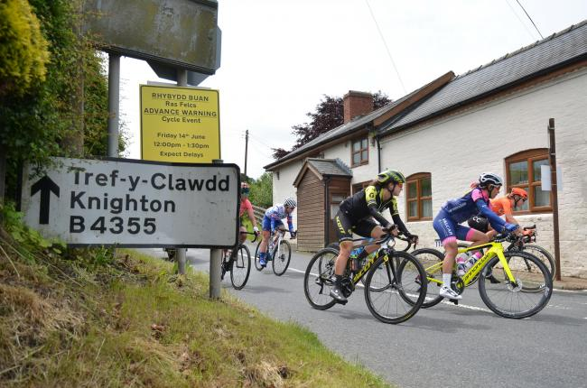 Riders on the OVO WOmen's Cycling Tour head through Dolfor, Powys during the Queen of The Mountains stage on Friday, June 14, 2019.  Pic: Mike Sheridan/County Times MS108-2019