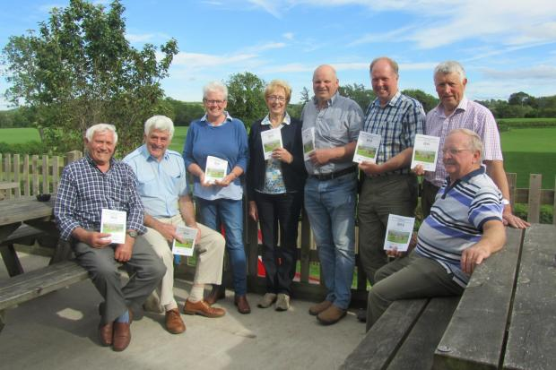 The Montgomeryshire Agricultural Association committee promoting the 2019 schedule.